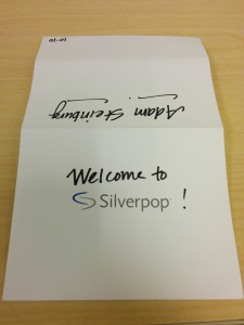 welcome to silverpop